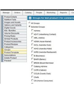 Products Assigned to User Groups